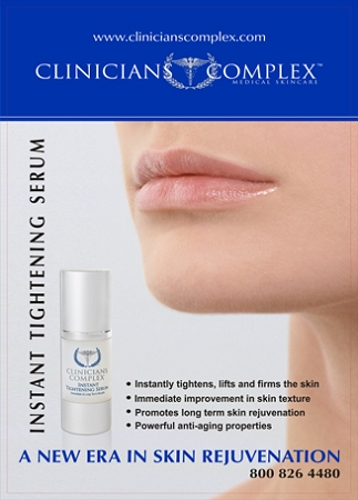 Instant Tightening Serum Display Poster