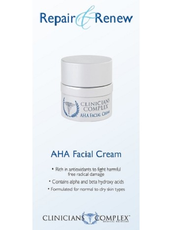AHA Facial Cream Sales Sheets