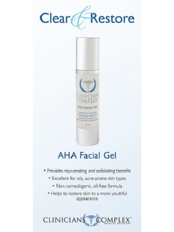 AHA Facial Gel Sales Sheets