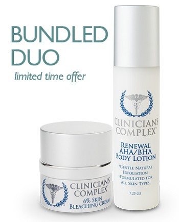 August Bundled Duo: 6% Bleaching Cream and AHA/BHA Renewal Hand & Body Lotion
