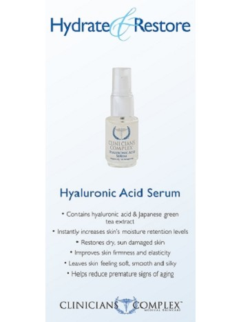 Hyaluronic Acid Serum Sales Sheets